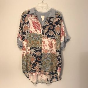 Chico's printed top size 2